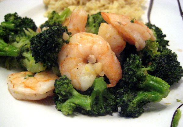 Broccoli and Shrimp